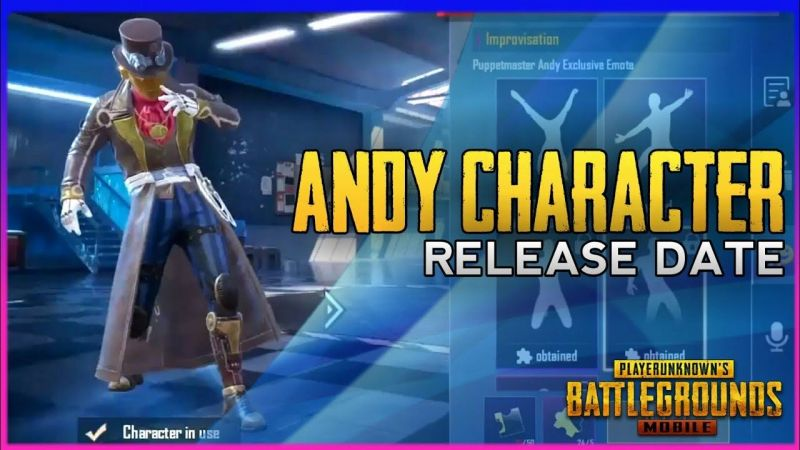 PUBG Mobile Andy Character, Image via Avi Gaming