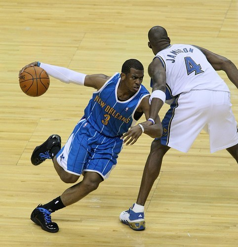 Chris Paul while playing for the New Orleans Hornets