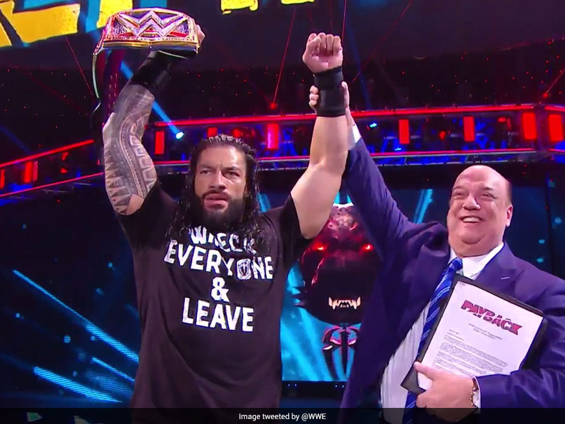 WWE Payback: Roman Reigns Wins Triple Threat Match To Clinch Universal  Championship | Other Sports News
