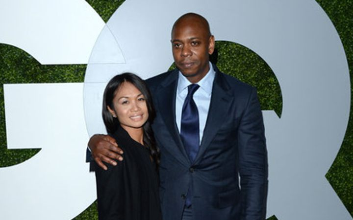 Dave Chappelle with his wife Elaine