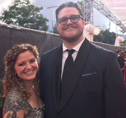 Cameron Britton with his Wife