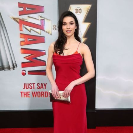 Actress Grace Fulton in Red Dress