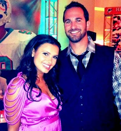 Joy Taylor with her ex-husband