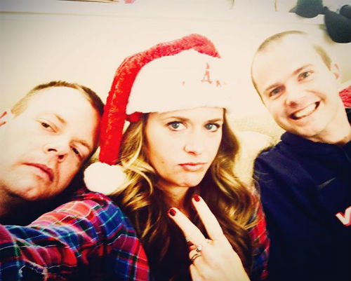 maggie lawson with brothers nick lawson chris lawson