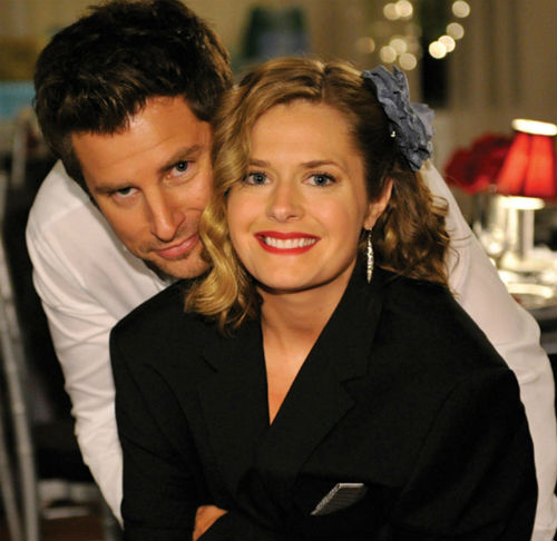 maggie lawson with james roday 2